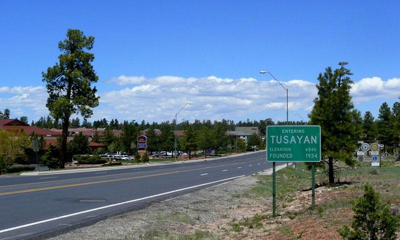 Entering Tusayan Arizona